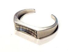 Bijou laiton finition paladium authentique bracelet manchette créateur L Vuitton