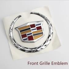 XTS 2007-2014 Silver Cadillac Nameplate Car Front Hood Grille Emblem Badge