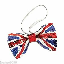 Union Jack Great Britain Flag Queens Royal Birthday Fancy Dress Costume Bow Tie
