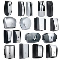 WALL MOUNTED SOAP TOILET ROLL PAPER DISPENSER AUTOMATIC TISSUE JUMBO DISPENSERS