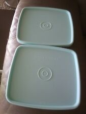 2 Tupperware Cool Mint green Square Round Replacement Seals Lids Freeze It
