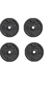 Domyos 4 x 5kg Cast Iron Weight Plates  [20kg Total] Boxed Brand New