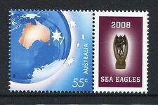 2008 NRL Premiers Manly Warringah Sea Eagles - MUH 55c With Personalised Tab