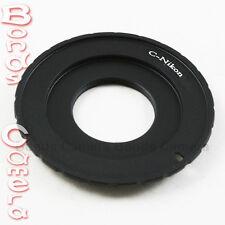 "C Cine Mount 16mm 1/2"" 2/3"" Lens to Nikon F mount Adapter D90 D3200 D5200 D7100"
