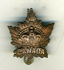 Old Canadian Military Badge with Canada and Crown