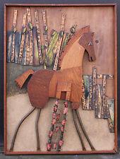 """""""TROJAN HORSE"""": WOOD, COPPER, ENAMEL CONSTRUCTION, 1958 BY JOHN BLACK"""