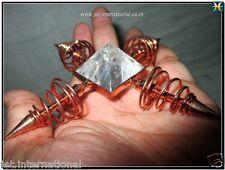 Crystal Quartz Copper Coil Pyramid Energy Generator Rare A++ Healing Gift X-mas