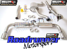 "Milltek Scirocco R De Escape Turbo atrás 3"" Inc Race Cat 200 Cell Res Trasero Silenciador"