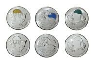 Canada 2011 Canadian Legendary Nature Circulation 25 Cent Quarter 6 Pack Set