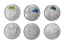 Canada 2011 Canadian Legendary Nature Circulation 25 Cent Quarter 6 Pack Set