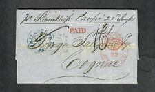 "Transatlantic Ship Cover Philadelphia To Cognac 1853 ""Collins Line"""