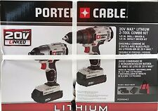 PORTER CABLE - PCCK604L2 - 20V Max Lithium Ion Combo Kit Drill Driver Power