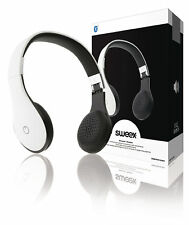Sweex On Ear Bluetooth Foldable Headphones + Built In Microphone White (UK) BNIB