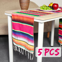 Mexican Serape Table Runner Cotton Tablecloth Festival Christmas Party Home