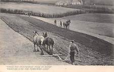"""Ploughman, """"Whistles O'Er the Furrowed Land"""" agriculture, work, village"""