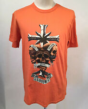 Loser Machine Men's T-Shirt No Rats Orange Size L NEW Skull Pot Leaf Weed Cross