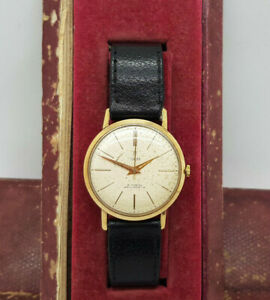 ROLEX TUDOR SOLID 9K GOLD SILVER DIAL MANUAL WIND MAN'S WATCH BOXED