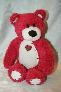 First and Main Red Tender Teddy Stuff Plush Bear Very Good Condition