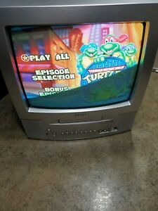 Toshiba MD13Q41 CRT Color TV/DVD Combo W/ Remote Tested Working Retro Gaming