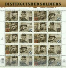 US 2000 Pane of 20 Stamps 33c Distinguished Soldiers Sc#3393-3396