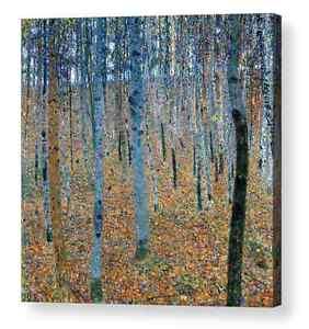 """Beech Grove Gustav Klimt Canvas Art Repro 10""""x10"""", 16""""x16"""",  20""""x20"""", 24""""x24"""
