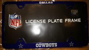 Dallas Cowboys Die-Cast Solid Metal License Plate Frame
