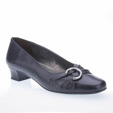 Hotter 100% Leather Court Block Heels for Women