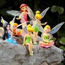 6 Pcs Tinker Bell Flower Fairies Princess Dollhouse Garden Ornament Decoration