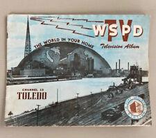 Vintage WSPD TV Station Channel 13 Television Album Toledo Ohio Brochure Booklet