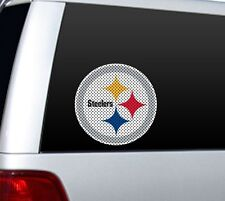 """BIG 12"""" PITTSBURGH STEELERS CAR HOME PERFORATED WINDOW FILM DECAL NFL FOOTBALL 1"""