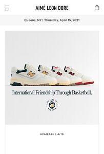 Aime Leon Dore x New Balance P550 Basketball Oxford White/Red US8.5 Deadstock