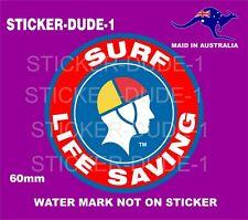 SURF LIFE SAVING STICKER LIFESAVING FOR TOOLBOX BEER FRIDGE SURF SKI BOAT ETC