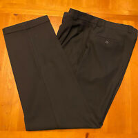 "Armani Collezioni Men's Black Pleated Dress Pants Size 38 - 30"" Inseam - EUC"