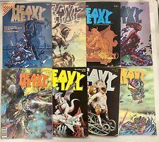 HEAVY METAL MAGAZINE Lot Of 8 Issues Vintage Fantasy Art Publication - 1977-79