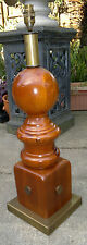 """Large Architectural Wood  Newel Post/Balustrade Table Lamp 25"""" Tall"""