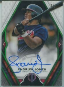 Andruw Jones 2021 Topps Tribute Autograph Green 52/99 Auto Atlanta Braves