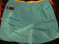 NEW 2XLT 2XT 2XL TALL Ralph Lauren POLO Swimsuit AQUA BLUE w YELLOW PONY $65