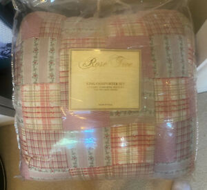 comforter set, pillows, curtains and shams new in bag