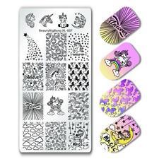 BeautyBigBang Uñas Placas de Estampado Geometría Nail Art Sello Plantilla Placa