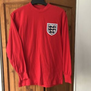 Score Draw World Cup Final England 1966 #6 Moore Red Away '66 Football Shirt S