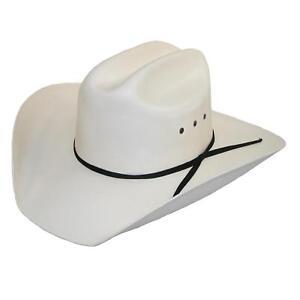 New CTM Men's White Canvas Cowboy Western Hat