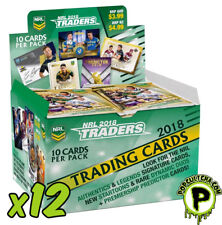 NRL 2018 RUGBY LEAGUE - Traders Trading Cards Box ~ Sealed Case (12ct) #NEW