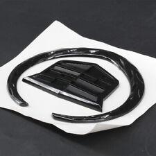 4 In Emblem Rear Grille Hood Ornament Badge Logo Symbol Gloss Black For CADILLAC