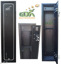 GDK X-LARGE 6 GUN CABINET, 6 SCOPED RIFLES, SHOTGUN & INTERNAL AMMO SAFE, HB-6GA