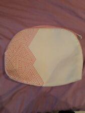 White/pink Large Make Up Bag