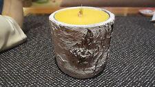 Schmelzlicht , Kerze , Fackel mit Kupferbrenner (Spirale) für Innenräume.Birke