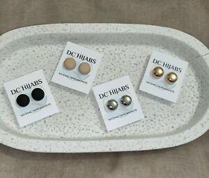 Premium Strong Hold No-Snag Hijab Magnetic Brooch Magnet Pin (2 pairs)