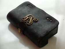 Antique Indian War 1878 New York National Guard Leather Cartridge Box Pouch