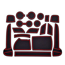 1set Interior Door Mat Cup Pads Holder Gate Slot Pad for Kia Sportage kx5 17-18