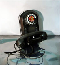 Antique 1940's Automatic Electric 50 Black Bakelite Monophone, TK, Keystone